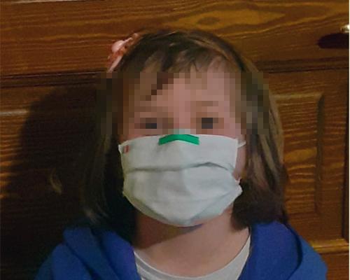 Mascherina chirurgica per bambina