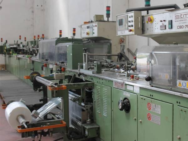 particolare macchinario per imballaggio materiali
