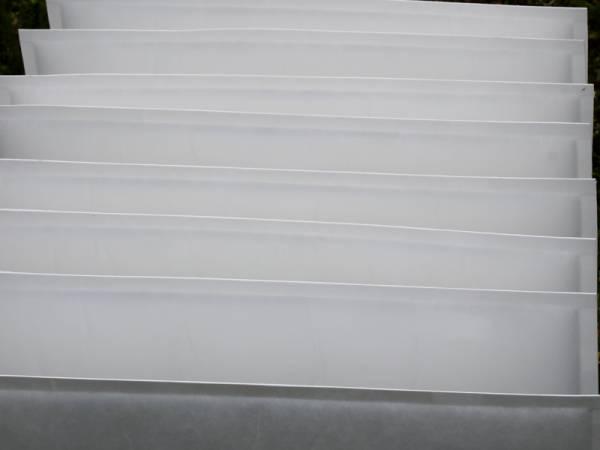 finitura esterna di un filtro a tasca